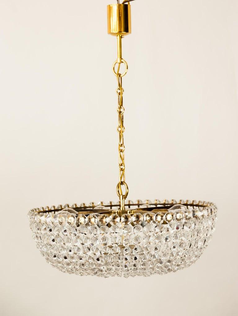 J.L Lobmeyr chandelier around 1950s ( Signed ) Good original condition 8 Bulbs