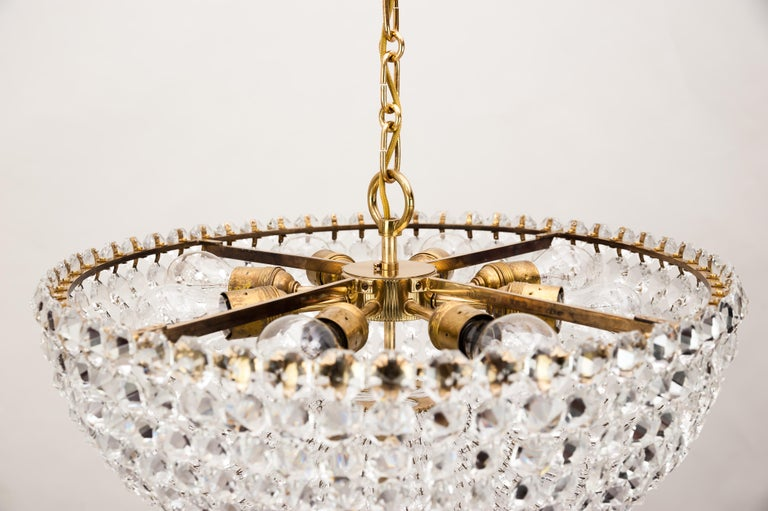 Mid-Century Modern J.L Lobmeyr chandelier around 1950s ( Signed ) For Sale