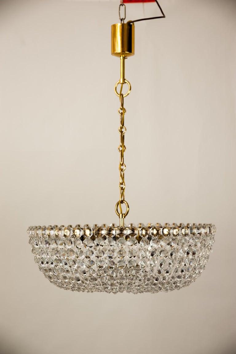 Mid-20th Century J.L Lobmeyr chandelier around 1950s ( Signed ) For Sale