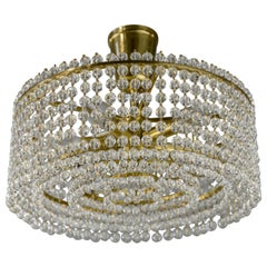 J.L Lobmeyr Chandelier with Crystal Glass, Austria, 1960s