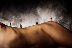 Fire Mountain - Photograph of Figurines on a naked Body - J.Leo