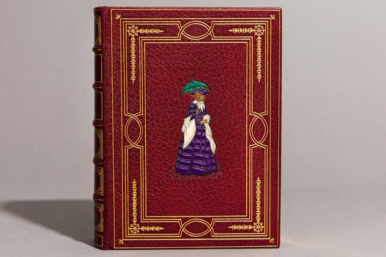 1 Volume.   Bound in full red Morocco with a multicolored Onlay on front cover by Bayntun, all edges gilt, raised bands, ornate gilt on spine And covers, illustrated in color by Hugh Thomson.   Published: London: Hodder & Stoughton 1901. In a