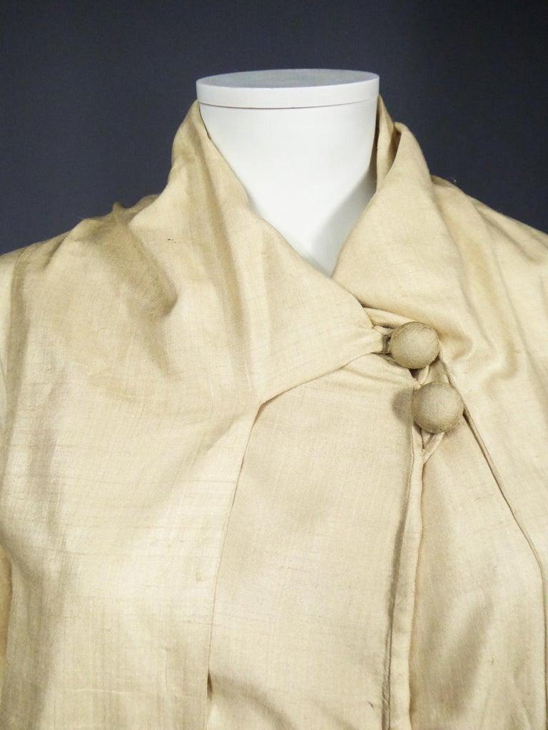 JM Gidding & Co Beige Wild Silk Dust Jacket USA Circa 1910 For Sale 6
