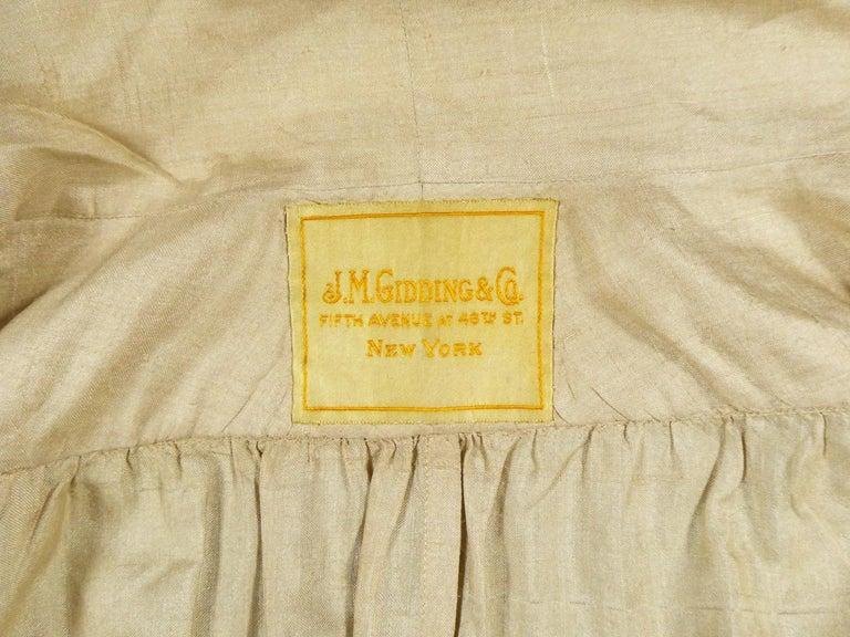 Women's JM Gidding & Co Beige Wild Silk Dust Jacket USA Circa 1910 For Sale