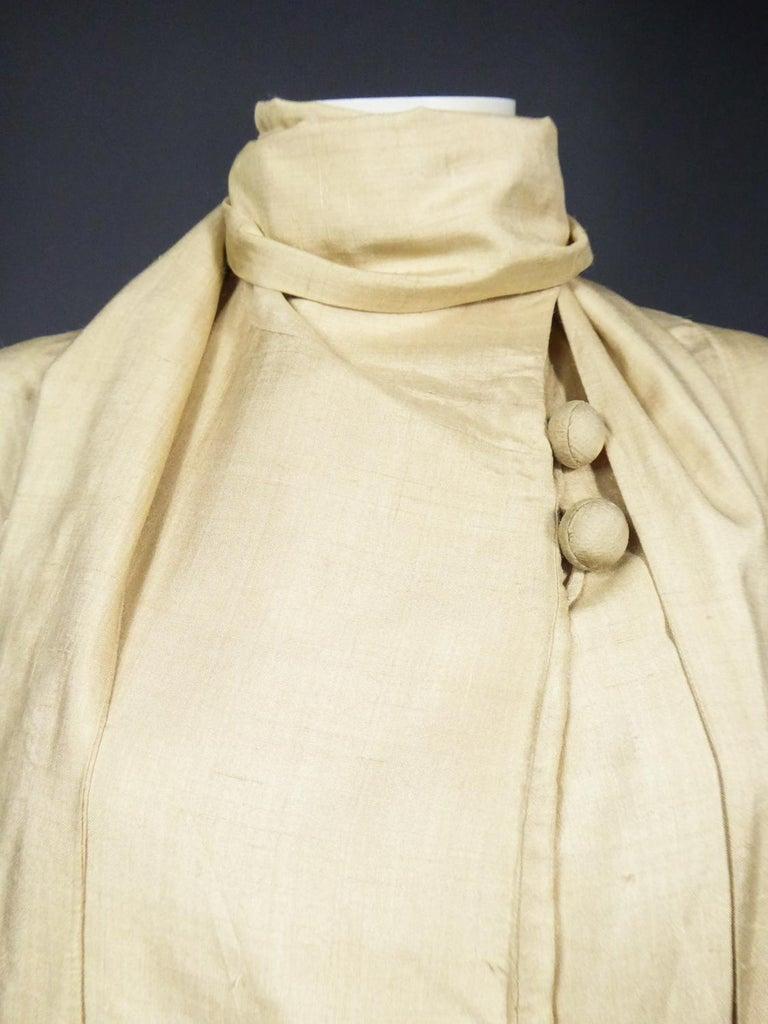 JM Gidding & Co Beige Wild Silk Dust Jacket USA Circa 1910 For Sale 2