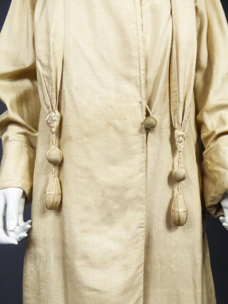 JM Gidding & Co Beige Wild Silk Dust Jacket USA Circa 1910 For Sale 3