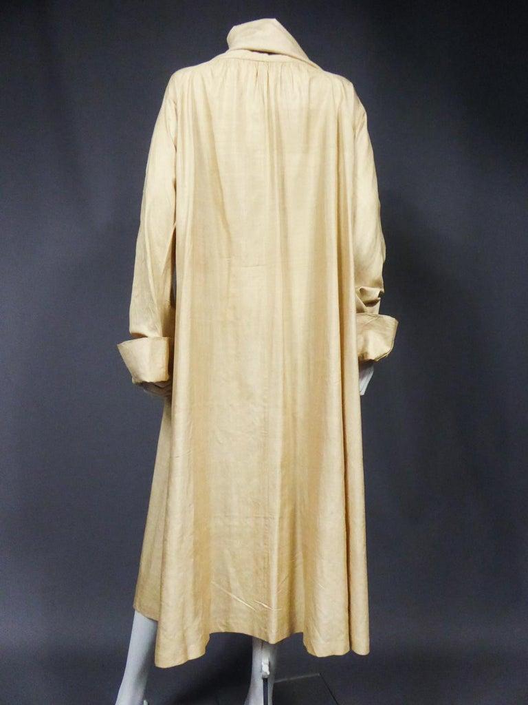 JM Gidding & Co Beige Wild Silk Dust Jacket USA Circa 1910 For Sale 5