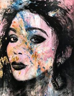 """Le Grandiose"" The Grandiose, Colorful Street Art Pop Abstract on Canvas"