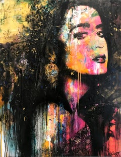 """""""Lorsque la Nuit Paraî"""" When the Night Comes, Colorful, Abstract Street Art"""