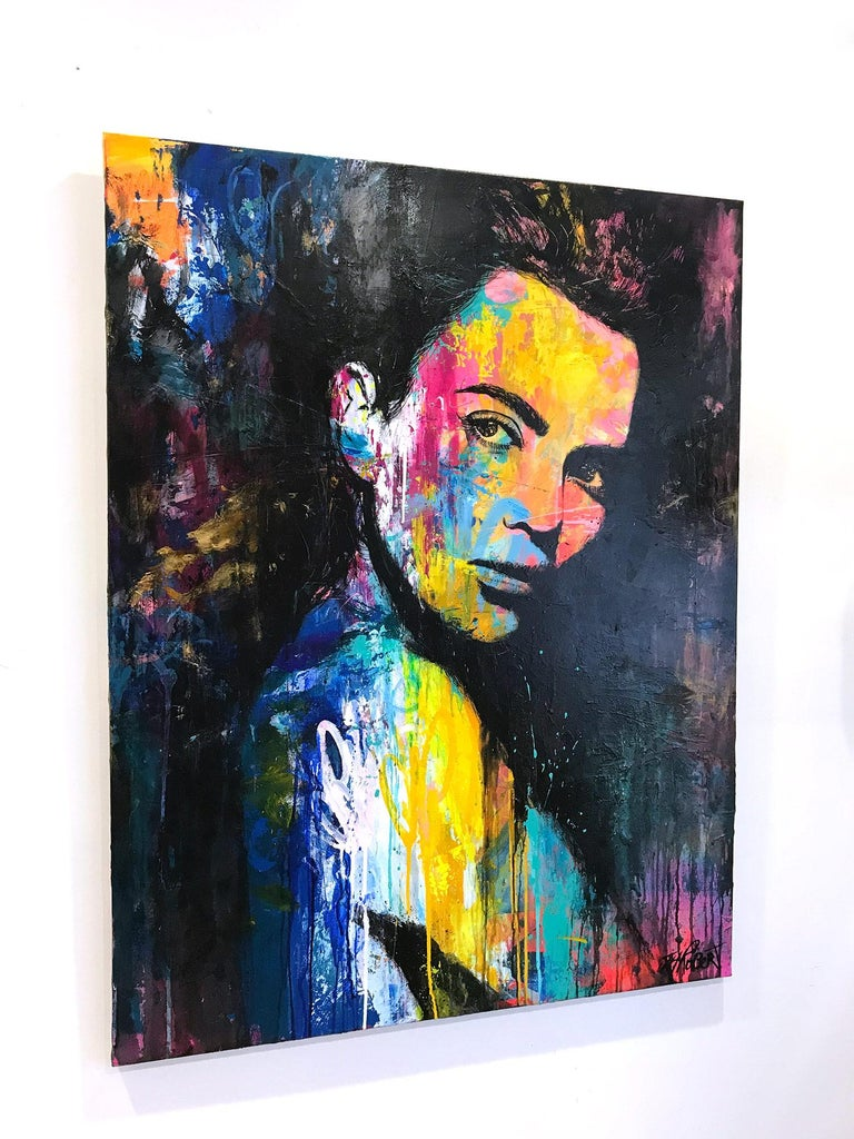"""Quoiqu'il Arrive"" Whatever Happens, Colorful, Abstract Street Art For Sale 6"
