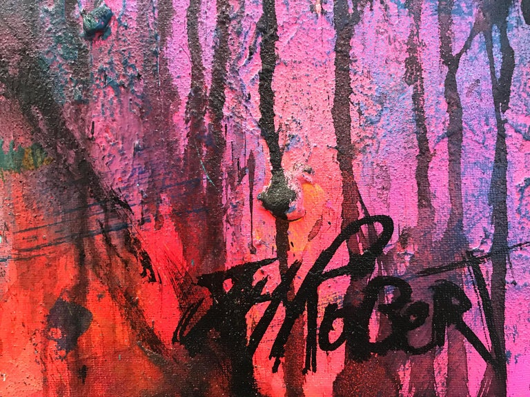 """Quoiqu'il Arrive"" Whatever Happens, Colorful, Abstract Street Art For Sale 5"