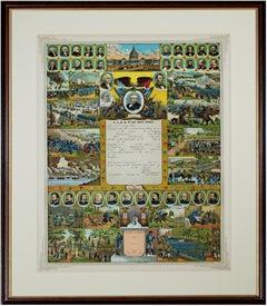 'Government Accounts Registry & War Record' original chromolithograph