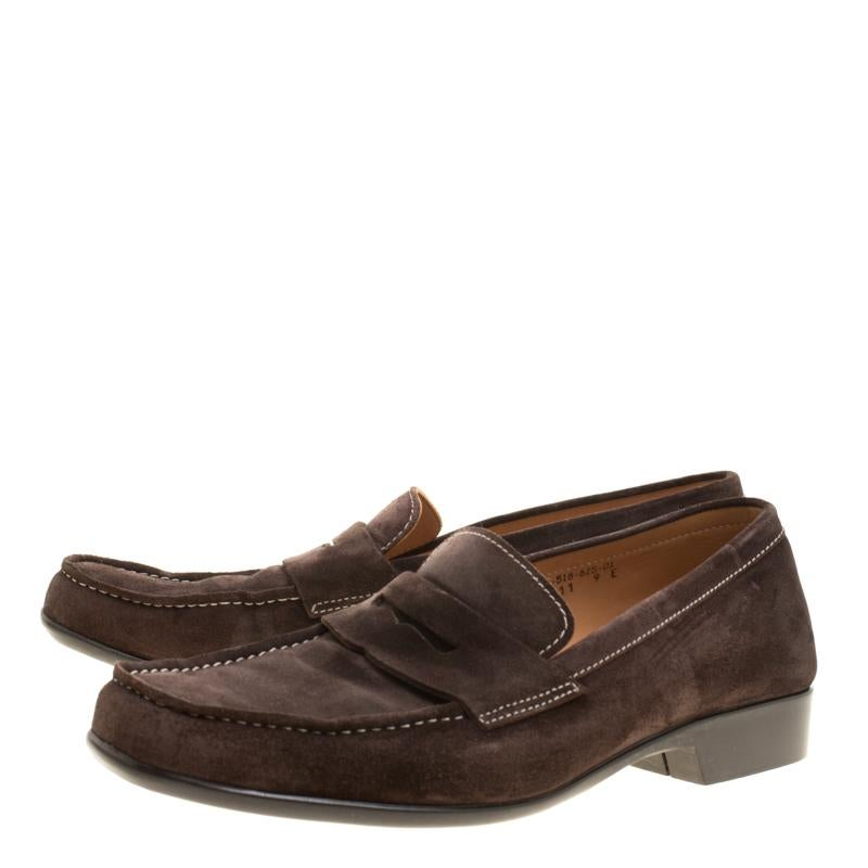 Size weston J m 43 Loafers Brown Suede Penny xorCBeQdW