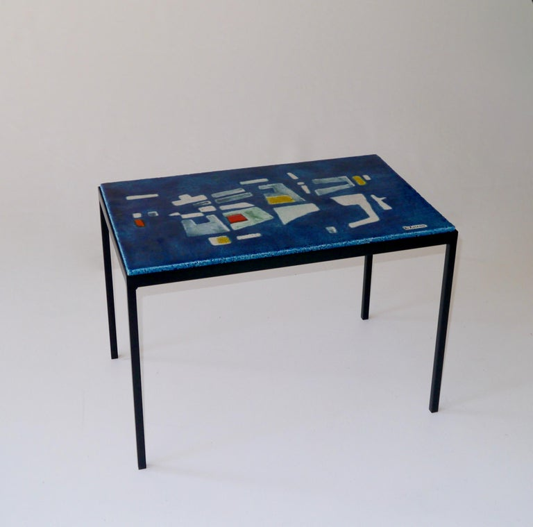 Table Top 1955: Jo Amado, Exceptional Ceramic Low Table, France, Circa