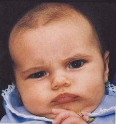 Vintage Hand Signed Color Photograph Digital Photo Baby Portrait Jo Ann Callis
