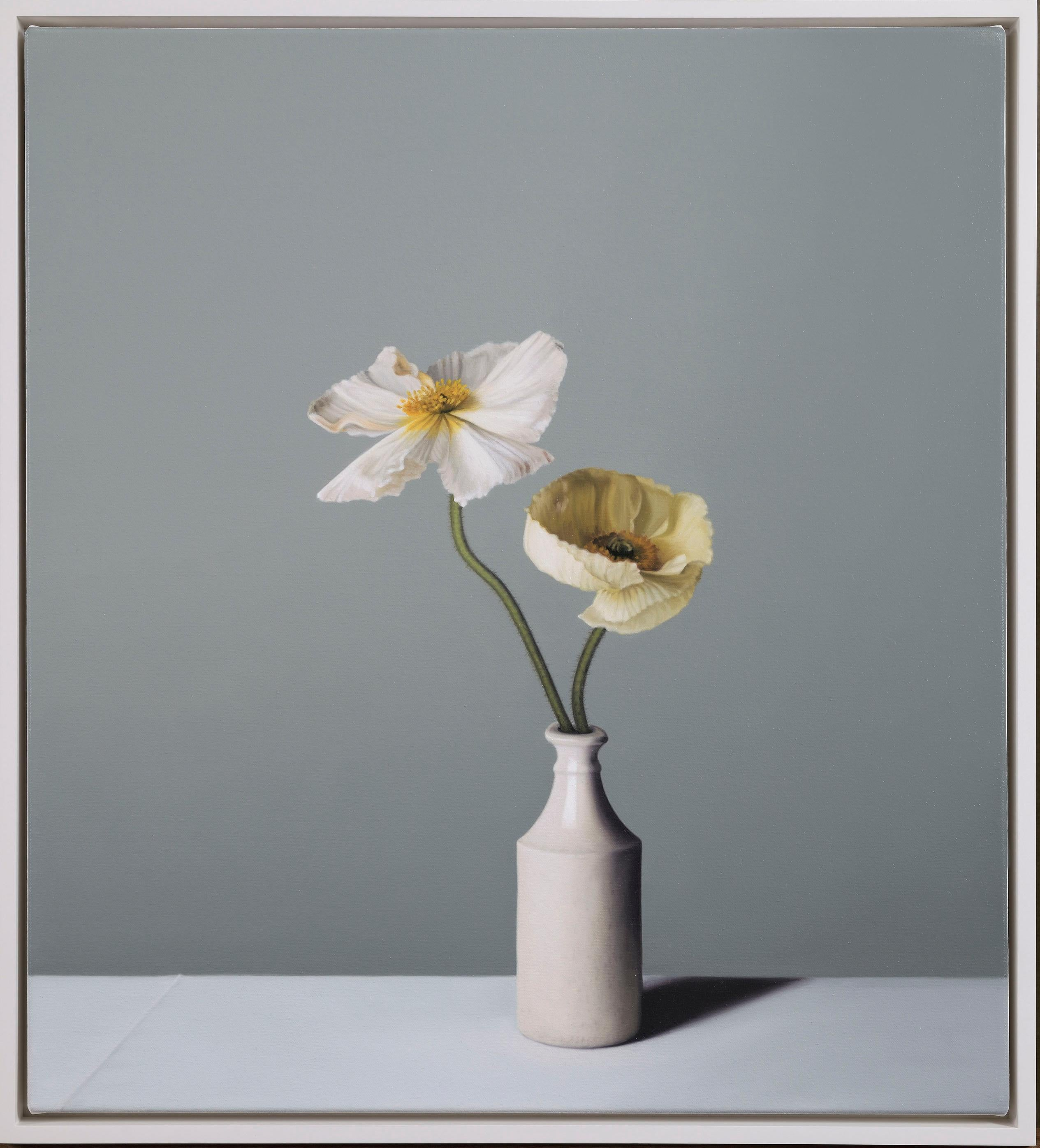 Still Life with Earthenware Bottle and Icelandic Poppies