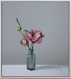 Still Life with Glass Bottle and Lisianthus