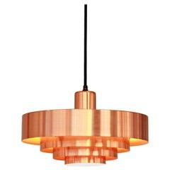 Jo Hammerborg Copper Roulet Hanging Lamp for Fog and Morup, Denmark, 1960s