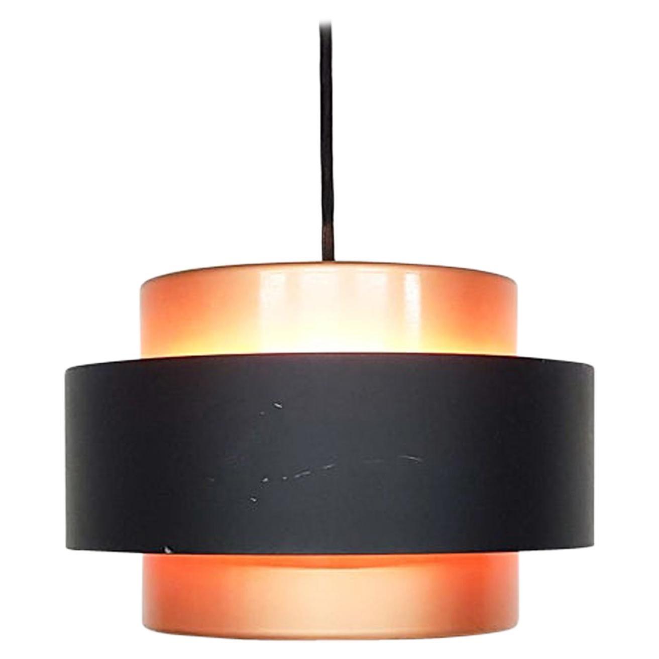 """Jo Hammerborg """"Juno"""" Copper Pendant Light for Fog & Morup, Danish Modern 1960s"""