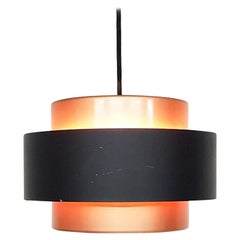 "Jo Hammerborg ""Juno"" Copper Pendant Light for Fog & Morup, Danish Modern 1960s"