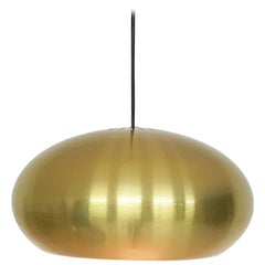 """Jo Hammerborg """"Medio"""" Brass Pendant Light for Fog & Morup, Danish Modern, 1960s"""