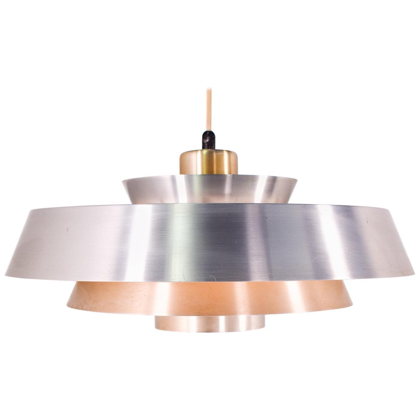 Jo Hammerborg Nova Copper Pendant for Fog & Mørup, 1960s
