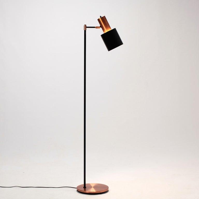 Jo Hammerborg Studio Copper Floor Lamp For Fog And M 248 Rup Denmark 1960s At 1stdibs