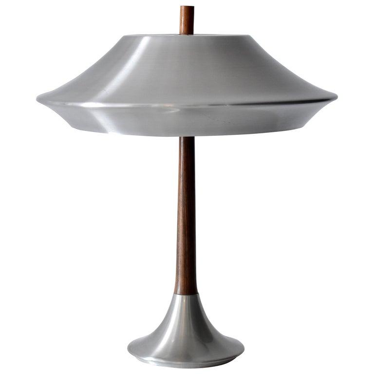 Jo Hammerborg, Table lamp, Aluminium, Rosewood, Fog & Mørup, Denmark, 1960s For Sale
