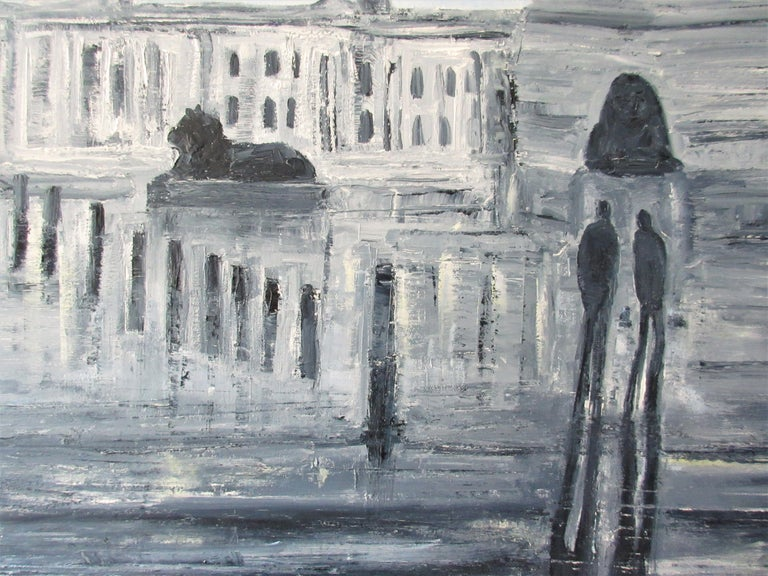 Square Reflections - Contemporary Painting by Jo Holdsworth