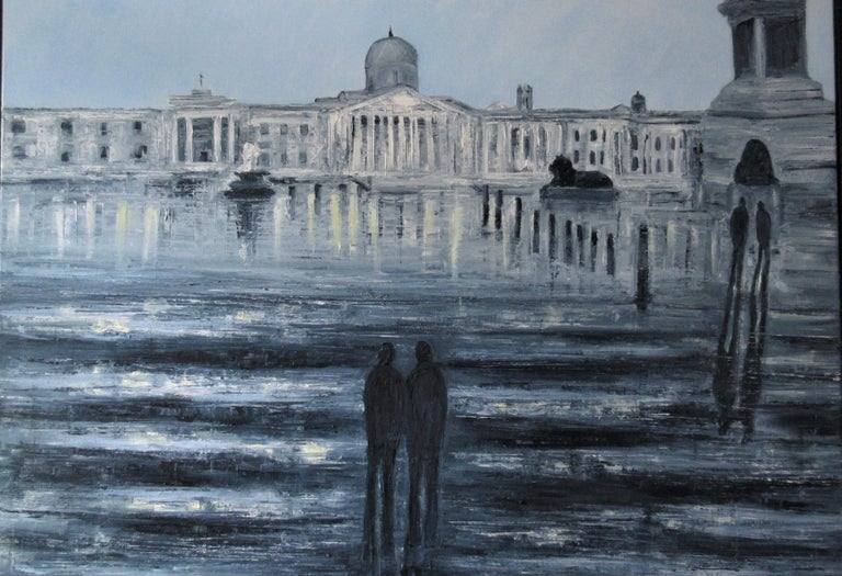 Jo Holdsworth Figurative Painting - Square Reflections