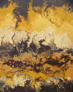 Flight of the Arpeggios I, Painting, Oil on Wood Panel