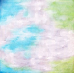 Softly Waking in Blue and Green, Painting, Oil on Canvas