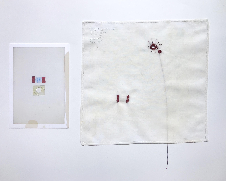 Jo Yarrington, Conversation with Tuttle , 2020, multimedia, combined 15 1/2 x 10