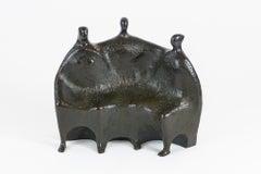 Large Bronze Sculpture Figural Group German Modernist Expressionist