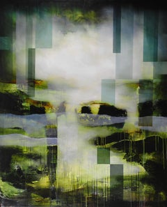 Cybergreen II by Joachim van der Vlugt - Contemporary Abstract Painting