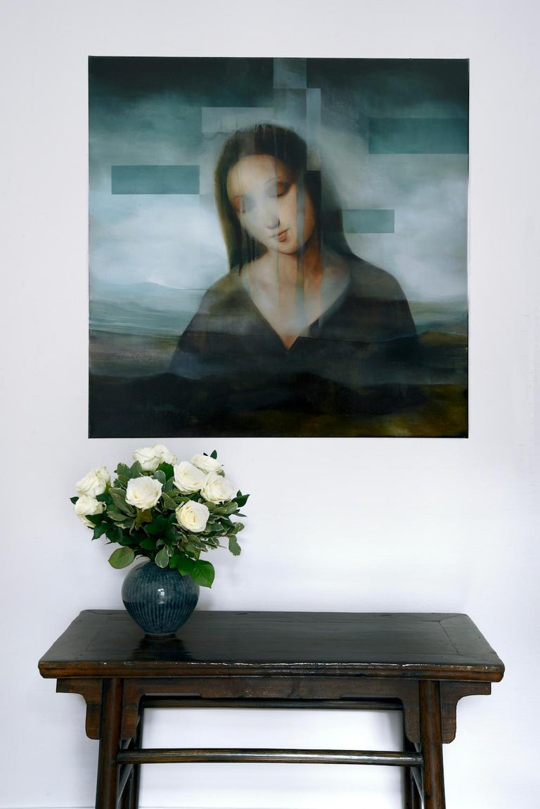 Madonna III, contemporary religious painting - Contemporary Painting by Joachim van der Vlugt
