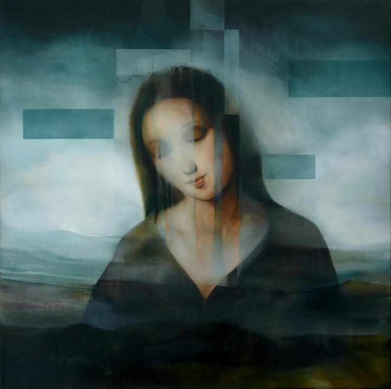 Joachim van der Vlugt Portrait Painting - Madonna III, contemporary religious painting