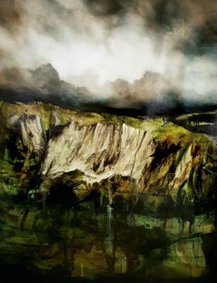 Steadfast Earth IV - Semi-Abstract Landscape Painting