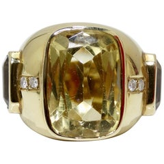 Joan Boyce 18k Gold Precious Stone Cocktail Ring