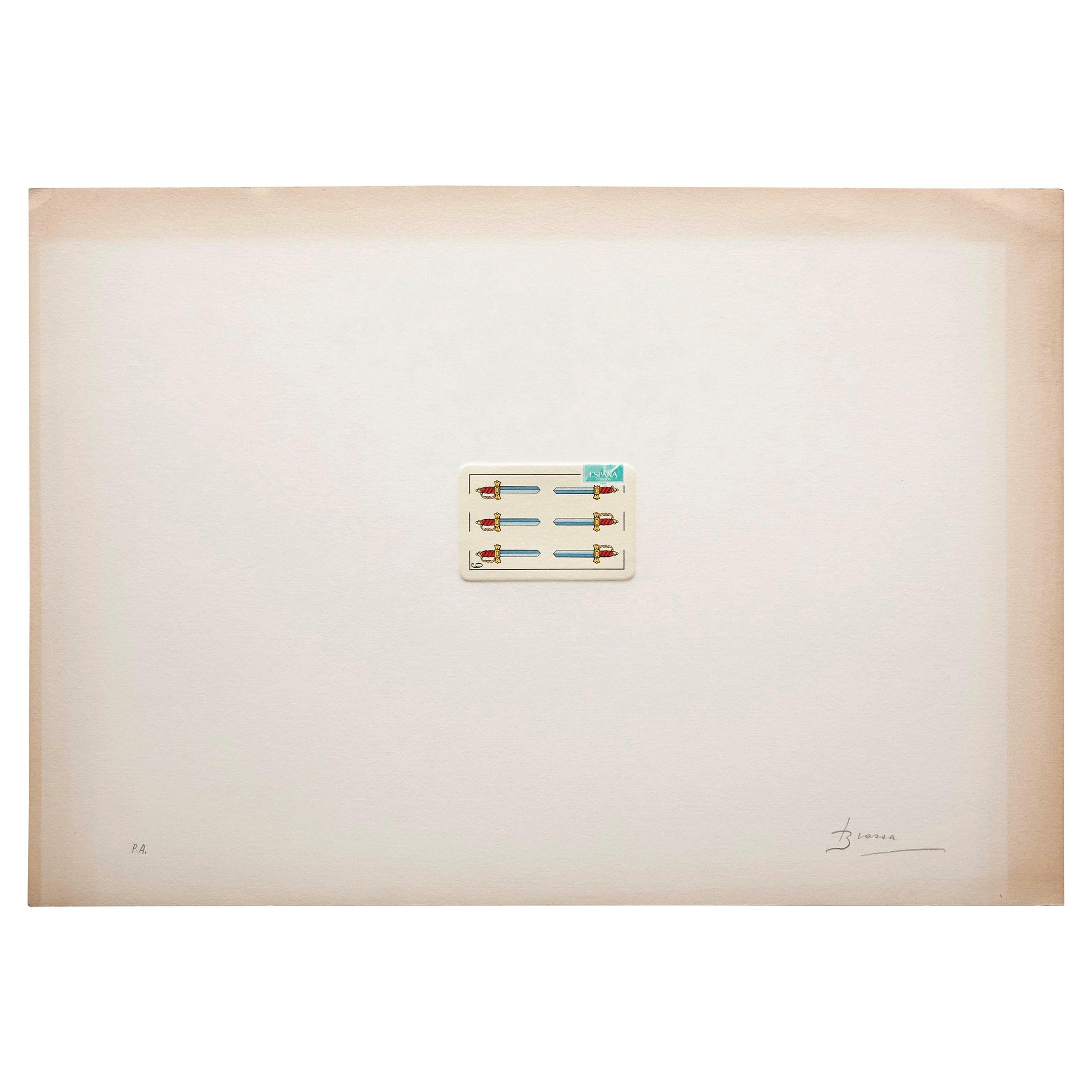 Joan Brossa Lithograph Visual Poem Hand Signed