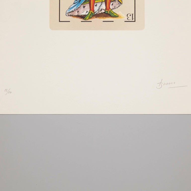 Mid-Century Modern Joan Brossa Visual Poem Lithography Hand Signed For Sale