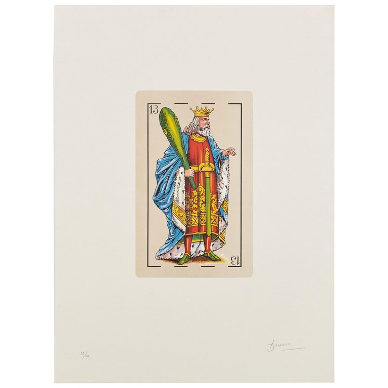 Joan Brossa Visual Poem Lithography Hand Signed For Sale