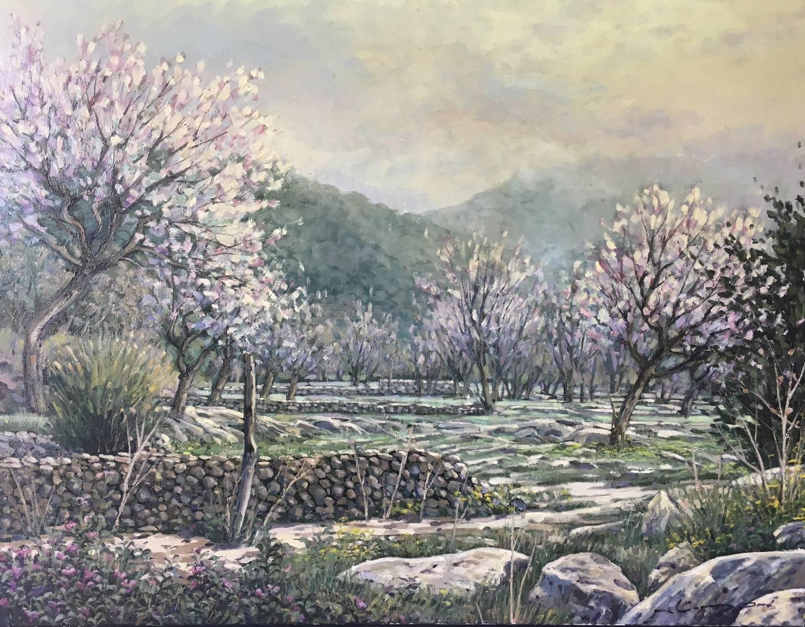 LANDSCAPE OF MALLORCA original realist acrylic canvas painting