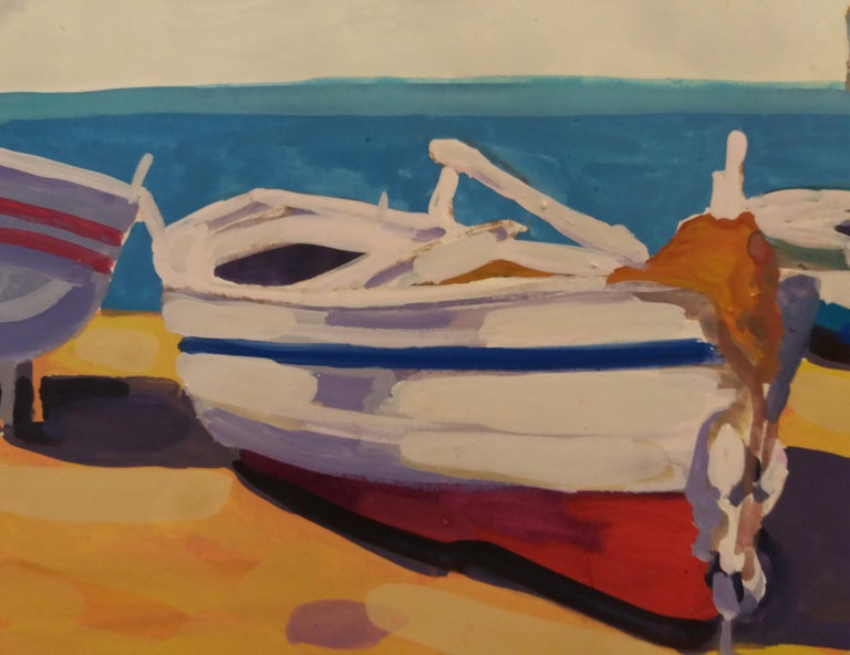 Marina original watercolor realist paper painting For Sale 1