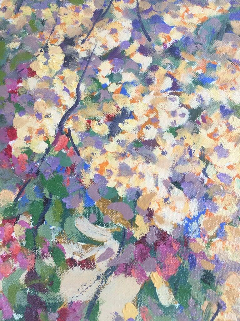 PARK CIUTADELLA.-Barcelona-jardin. original acrylic painting - Impressionist Painting by Joan Copons