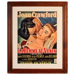 Joan Crawford and Ingrid Bergman Vintage Movie Posters, Queen Bee and Intermezzo