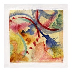 """""""Abstract Butterfly,"""" mixed media ink and watercolor by Joan Dvorsky"""
