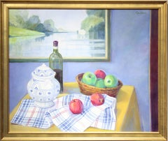 """Soup Terrine and Apples"" Large Realistic Still Life Painting"