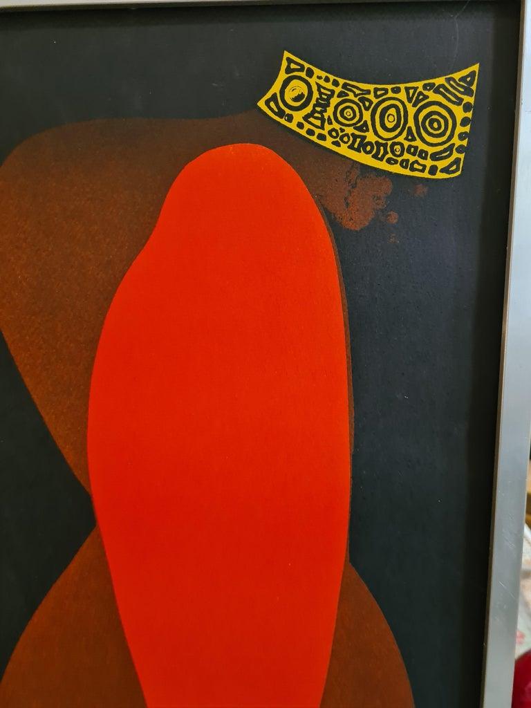 'Chamonix' Mid-Century Hand Signed Original Lithograph. - Black Figurative Print by Joan Gardy Artigas