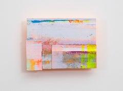 Joan Grubin, Detritus #22, neon abstract wall-sculpture, 2015